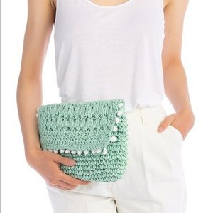 Blue Straw Clutch